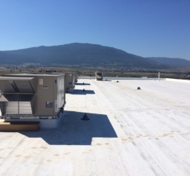 Installation of 4 Rooftop Units: Dollarama Merritt